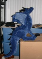 Large jointed dragon plush by Bladespark