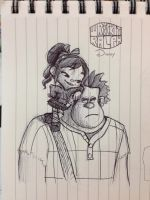 Wreck-it Ralph and Vanellope Von Schweetz by Saber-Cow