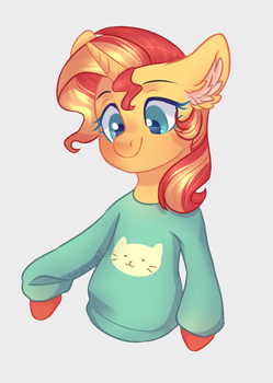 Sunset in Mabel`s sweater by SannyKat
