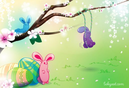 Easter Jelly Bunnies by lafhaha