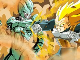 Cooler, Vegeta Dragon Ball Z by Sersiso