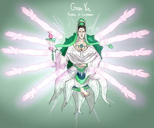 Smite Concept - Guan Yin, Goddess of Compassion 2 by Kaiology