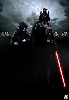 Darth Vader and Sidious - Poster by ArtBasement