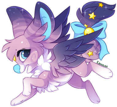 Commission :: tigersylveon by Kamirah