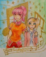 The gals: Claris and Helen by ParanoidEmily