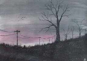 Evening landscape by somebody666t