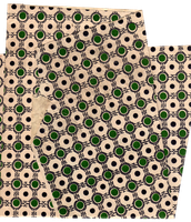 Green dots and ornaments paper texture | PNG by mercurycode