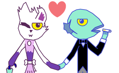(Request) Miss Cuddely And Mister Fish by IestynPritchard