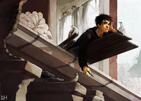 Yuriy and the Pigeons by Nacre-Headphones