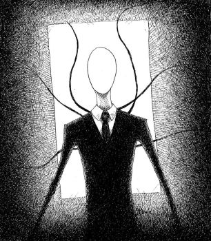 Slenderman is Having You for Dinner Tonight by EtaMu