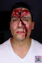SPFX Bullet Hole Makeup By VisualEyeCandy