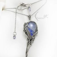 MITRIAELHT  - Silver , Moonstone and Iolite by LUNARIEEN