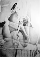 Lock me up inside, 2016, 50-70cm, graphite crayon  by oanaunciuleanu