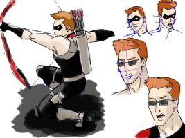 Roy Harper/Red Arrow Sketches 2 by Sarcasticyetsexy