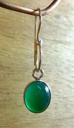 Green Cabochon Earring by N96D