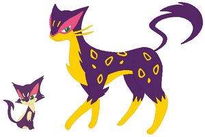 Purrloin and Liepard Base by SelenaEde