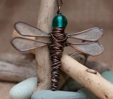 DragonFly Pendant by starpixiecreations