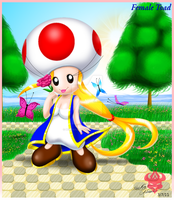 Female Toad's daytime beauty by Bowser2Queen