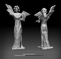 Broken angel sculpture by t17dr