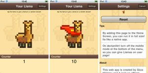 Llama Giving Game iPhone by NAkos