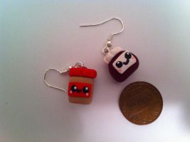 Peanut Butter and Jelly Earrings ~$3 by Jenna7777777