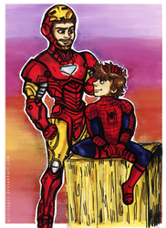 Ironman and Spiderman by greciiagzz