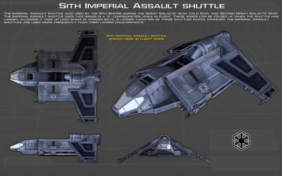 Sith Imperial Assault shuttle ortho [2][New] by unusualsuspex