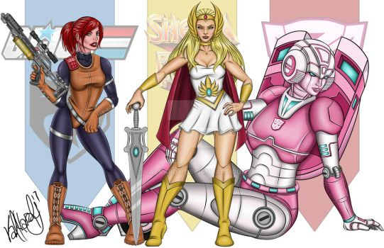 Battle Tested Ladies of the 80s by valkardy