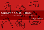 Halloween Photoshop Brushes by candypebbles