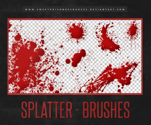 Blood Splatter | Brushes by sweetpoisonresources