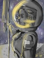 Woman on the moon by TalortheGreat
