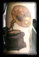 Gramaphone by state-of-art-tattoo