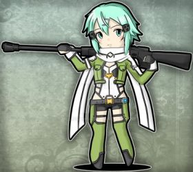 Commission: SAO: Sinon by melissah84