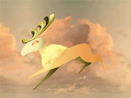 Cloud stag (animation) by Liketheisland