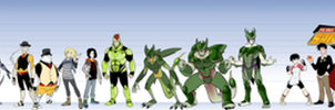 DBZ Redesign Line Up by Michael Lee Lunsford by MAD-54