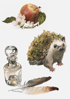Bloody Still Lives And A Hedgehog by Toradh