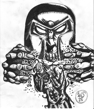 Venom and Magneto Inked by willie565