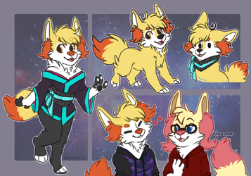 Braixen Sona Ref by Star-Swirls