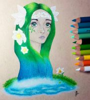 Echo and Narcissus by JennyyLovee