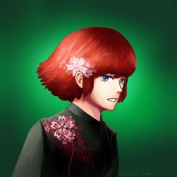 Red Haired Lady by MaskedSheik