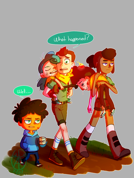 Camp disaster by Ughh-nyet