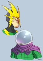 Electro and Mysterio by D-MAC
