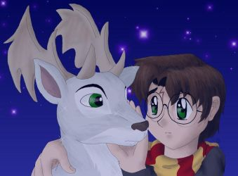 Harry and Prongs by cowgirlem