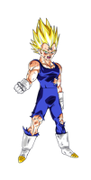 Colored 006 - Vegeta 002 by VICDBZ