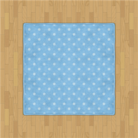 Flooring  Polka Dot Rug (Pale Blue) by Rosemoji