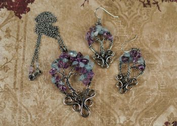 Scrolled Tree of Life Set by FreiaInguz
