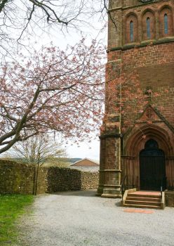 Blossom Church Front by bulldogstoy