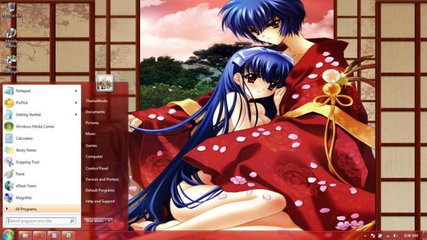 Anime-girls-30 Windows 7 theme by windowsthemes
