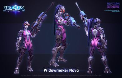HOTS Widowmaker Nova by ArtDoge