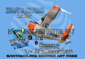 HAF ACADEMY 360 SQN CESSNA T-41D MESCALERO by SANTAMOURIS1978